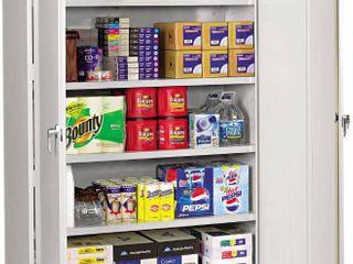 Tennsco J2478SUlGY Assembled Steel Storage Cabinet  48w x 24d x 78h  light Gray