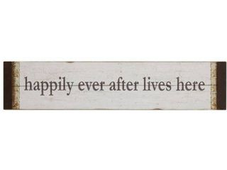 32 l X 7 h Mdf  happily Ever After lives Here  Wall DAccor