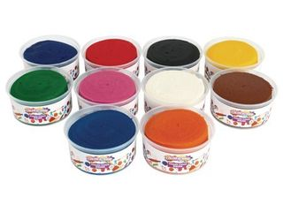 Colorations Classic Dough  10 Pounds  10 Bright Colors  Non Toxic  Resealable Tubs  Soft Pliable Non Crumble  Modeling  Moldable  Sensory  Smooth  for Home  School  Daycare  STEM  Item   TENDO