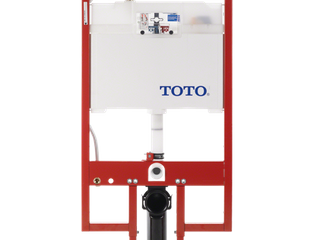 TOTOAr DuoFitAr In Wall Toilet Tank Dual Flush System with PEX Supply  Cotton White   WT153M 01