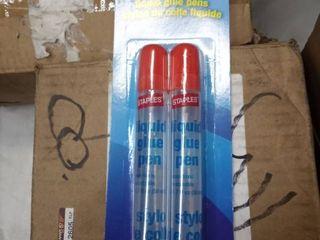 12 packs of Staples liquid Glue Pen 50ml  Pack 2