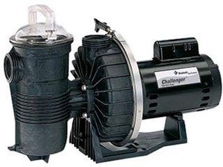 Pentair 343240 Challenger High Flow Pump Single Speed 2 Horsepower Up Rated Black
