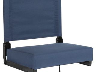 Grandstand Comfort Seats by Flash Flash Furniture Stadium Chair with Ultra Padded Seat in Navy Blue