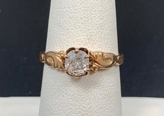 Old Mine Cut  5ct Diamond Ring