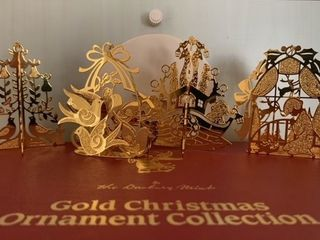 1988 Darbury Mint  20kt Gold Plated Christmas Ornaments