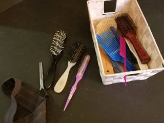 Assorted brushes and combs