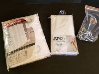 Shower curtain  liner and rings