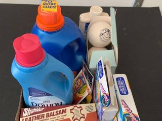 Assorted laundry supplies