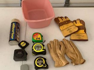 Gloves and measuring tapes