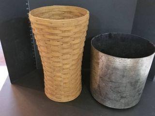 longaberger basket and planter