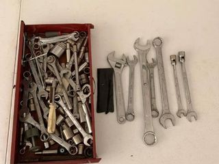 Various wrenches and sockets