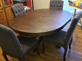 Ashley furniture dining room table and 4 chairs