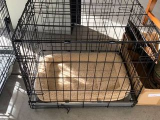 Small dog kennel with bed