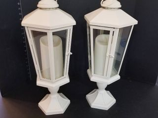 Decorative battery operated candle lanterns