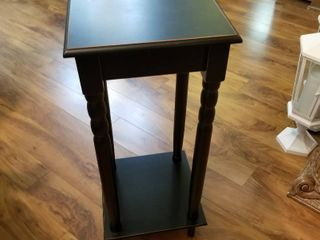 Wood plant side table 28 x 12 x 12
