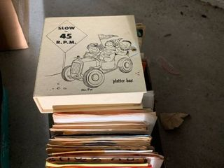 Assorted albums 45s