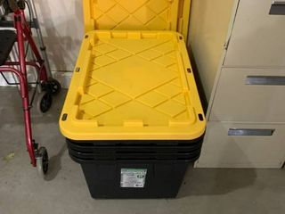 Set of four storage tubs with lids