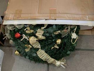 large box of Christmas garland