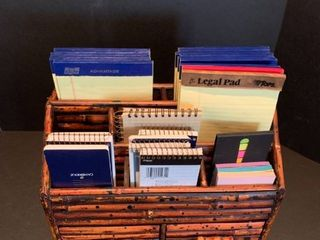 Wooden organizer with pads