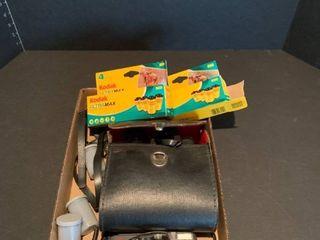 Camera  film and binoculars