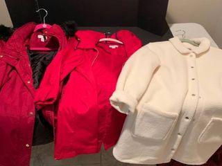 Set of three ladies coats size medium