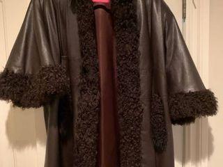 lamb and leather coat