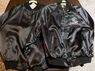 Set of two satin jackets