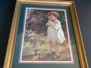 Girl picture in frame 19x 23