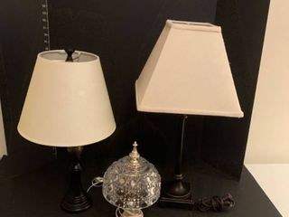 Set of three lamps tallest is 24 in