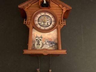 Schnauzer cuckoo clock