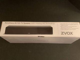 AccuVoice AV155 TV speaker with hearing aid technology never opened