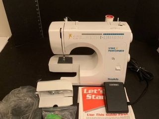 Simplicity star performer sewing machine
