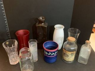 Assorted vases and jars