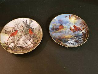 Decorative Franklin Mint plates