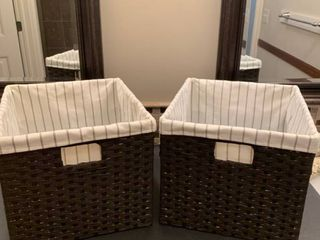 Set of two lined baskets