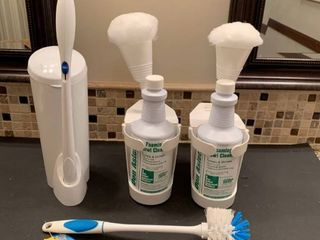 Toilet bowl cleaning supplies