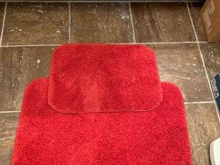 Set of two bathroom rugs