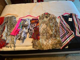 ladies vests and scarves