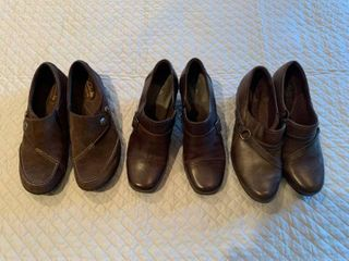 Three pairs ladies shoes size 8