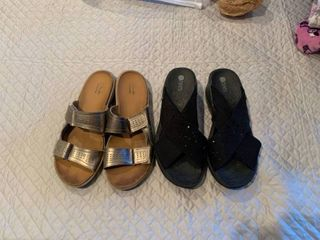 Two pairs ladies shoes size 8