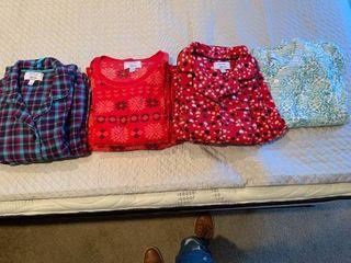 Four pairs of ladies pajamas