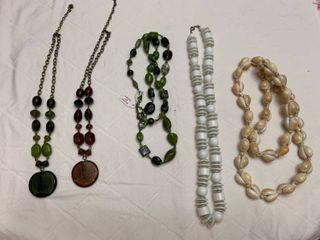 Set of five necklaces