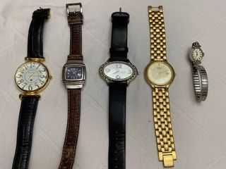 Set of five watches