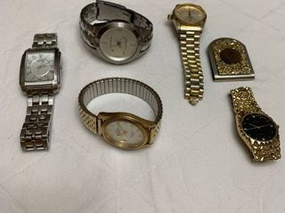 Set of five watches and a matching money clip