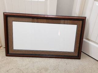 large picture frame w glass and mat board 25 x 53