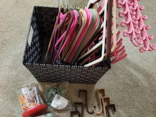 Velvet non slip hangers and hooks