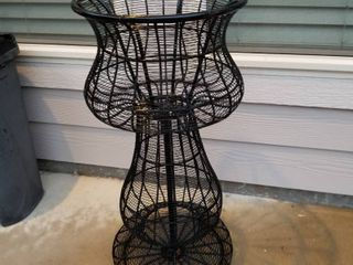 Metal plant stand 30  tall and 14  diameter
