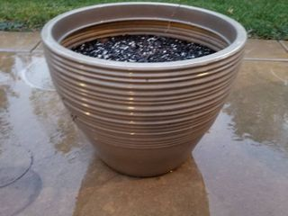 Ceramic flower pot 15 tall and 18  diameter