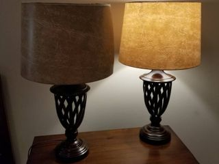 Decorative lamps set of 2 each 25  tall
