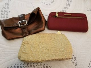 Wallet and 2 small bags